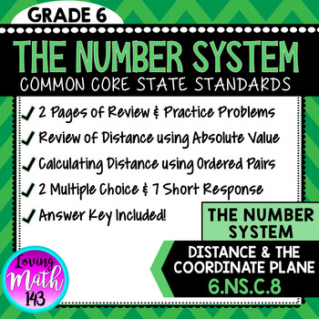 State Test Prep: The Number System - Distance, Absolute Value & Coordinate Plane