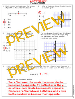 State Test Prep: The Number System - Integers & Coordinate Plane