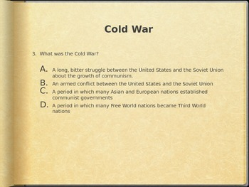U.S. History Test Prep: Part 3 (Cold War, Civil Rights, 1992 to Present)