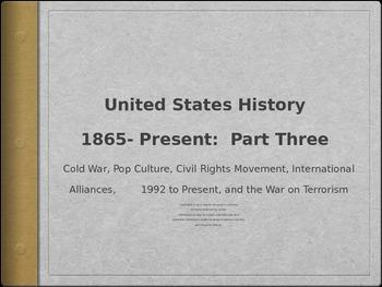U.S. History Test Prep: Part 3 (Cold War, Civil Rights, 19