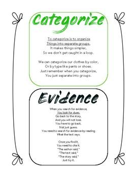 State Test Prep Vocabulary / Fluency Poems Part 1