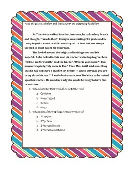 State Test Prep for Reading Non-Fiction and Fiction Texts