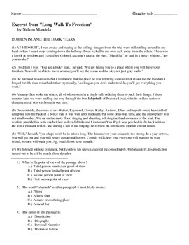 State Test Review Packet (point of view, theme, main idea ...