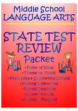 State Test Review Packet (point of view, theme, main idea,