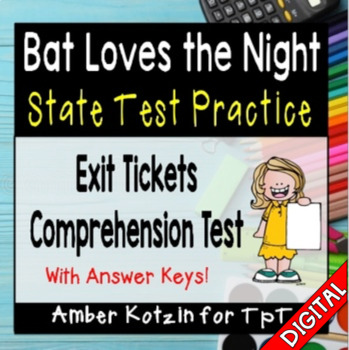 State Testing Comprehension: Bat Loves the Night Journeys 3rd Grade Lesson 6