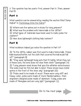State Testing Comprehension: Technology Wins the Game Journeys 3rd Gr. Lesson 11