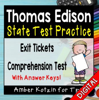 State Testing Comprehension: Thomas Edison Journeys 3rd Grade Lesson 10
