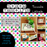 State Testing Goodie Labels