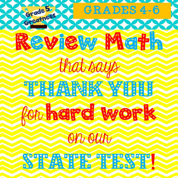 Math Review to thank students
