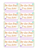 State Testing Motivation Be the Star You Are Starburst Candy Treat Tag