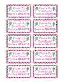 State Testing Motivation Candy Treat Tag You're No Dum-Dum! You're a Smartie!