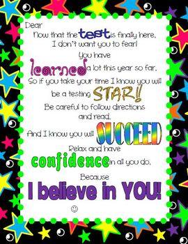 State Testing Motivational Letter