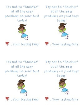 State Testing Motivational Notes (Testing Fairy)