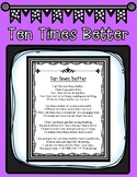 "State Assessment Motivational Poem titled ""Ten Times Better"" for Testing Events"