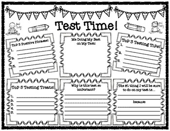 State Testing Motivational and Test Taking Tips Pair and Share Poster