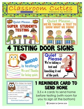 State Testing Signs Set with Bonus Reminder Card