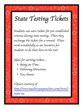 State Testing Tickets