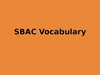 State Testing Vocabulary