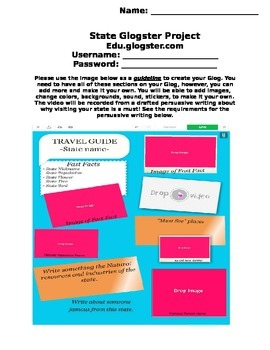 State Travel Brochure Using  Glogster