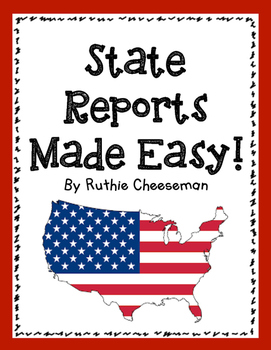 state trifold report made easy by cheezy solutions to lesson planning