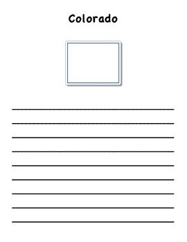 State Webquest & Class Book Writing Pages