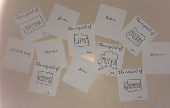 State and Capital Flashcards/Memory Game