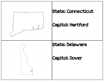 State and Capitol flash Cards