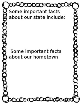 State and Hometown Research Worksheets