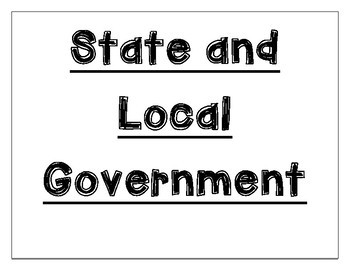 State and Local Government Word Wall
