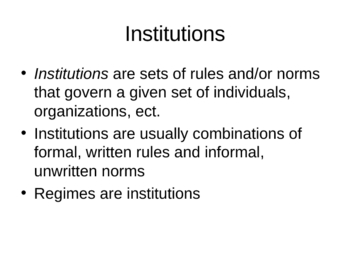 State and Political Regime Lecture: Intro to Political Science