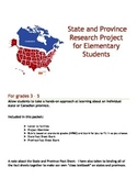 State and Province Research Project