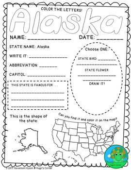 State by State Learn the USA Region 1 The West Worksheets