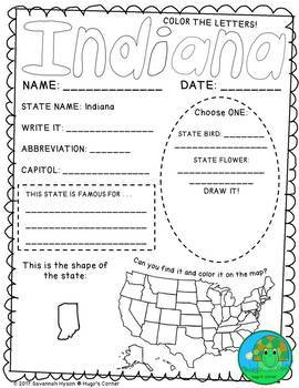 State by State Learn the USA Region 2 The Midwest Worksheets
