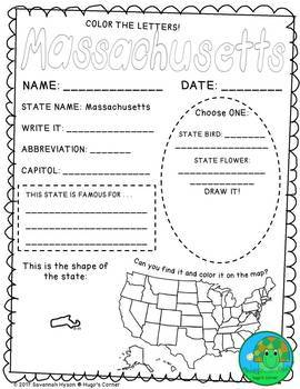 State by State Learn the USA Region 3 The Northeast Worksheets