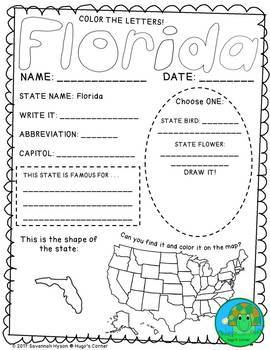 State-by-State Learn the USA - Region 4 - The Southeast (Worksheets)
