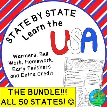 State by State Learn the USA THE BUNDLE Worksheets