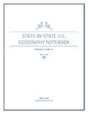 State-by-State U.S. Geography Notebook - Elementary