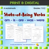 State-of-Being Verbs - am-is-are-was-were - 3 worksheets -