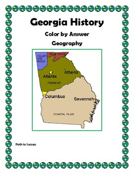 Georgia History - Geography Color by Answer!