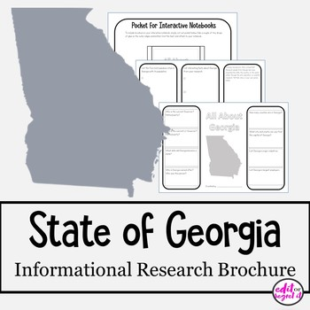 State of Georgia brochure mini research project