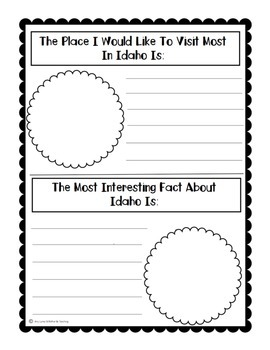 State of Idaho (Idaho State) Activity Pack
