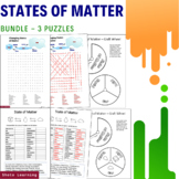 State of Matter 3 x Science Activity - Puzzle Bundle Word