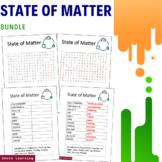 State of Matter Activity - Bundle Word Search Scramble Voc