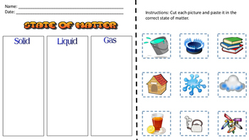 State of Matter and its properties Worksheets