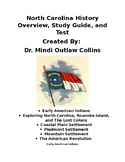State of North Carolina History Overview, Study Guide, and Test