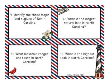 State of North Carolina Task Cards