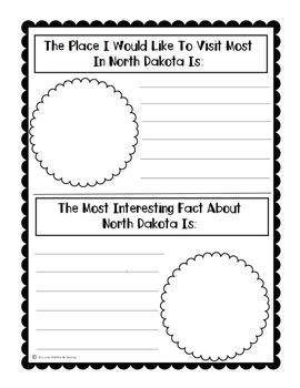State of North Dakota (North Dakota State) Activity Pack