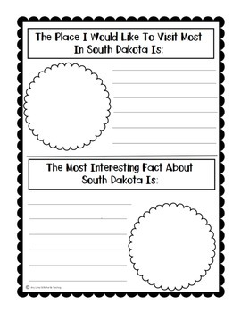 State of South Dakota (South Dakota State) Activity Pack