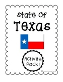 State of Texas (Texas State) Activity Pack
