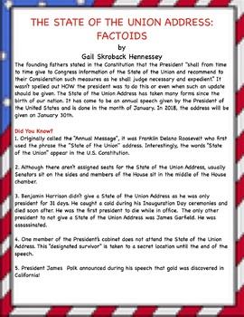 State of the Union Address FREEBIE FUN FACTS